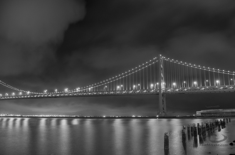 Tonemapped/HDR of the Bay Bridge in San Francisco