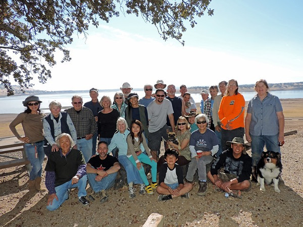 standing, left to right: Francesca Metaxas, Barbara Wilson, Bob Gould, Chris Ross, Janet Roth, Lorna Shevelin, Bob Pratt, Carol Mortensen, Bill Meran, Brent Meran, Kieth Mansfield, Henry Van der Voort, Ron Kelly, Fay Kelly (holding Suki), Tony Metaxas, Holly Sprague, John Mortensen, Mary Beth Avila, Carolyn Van Hoecke<br /> <br /> seated: Mas Nakajima, Steve Carini, Polly Gould, Fei Metaxas, Tony Metaxas, Diane Meran (holding Frankie), Candace Key, Hideko Metaxas, Vince Monasterio, Miso<br /> <br /> Photo by Tony Metaxas, Jr