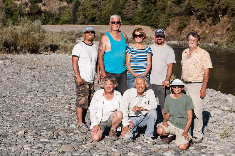 End of the day at Big Bar<br /> <br /> Back row: Chris Munez, Mike Butler, Glenda Butler, Brent Meran, John Mortenson<br /> Front row: Janet Roth, Mas Nakajima, Carol Mortenson<br /> <br /> Photo by Chris Munez