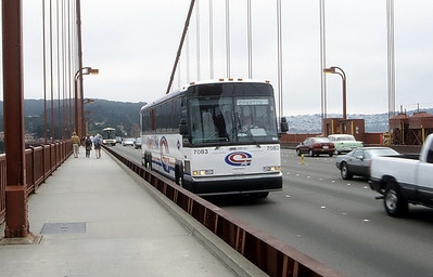 Coach USA 7083 Golden Gate Bridge Sep 99