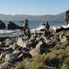 Mile Rock Beach cairns