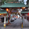 San Francisco Chinatown's Dragon Gate. Almost every large city in America  that has a Chinatown will have an entrance gate. And almost all of them are donated to the city from somewhere else. San Francisco's was a gift of the government of the Republic of China in 1969.
