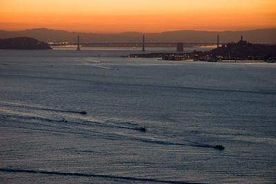 Fishing Fleet leaving the Bay at Sunrise