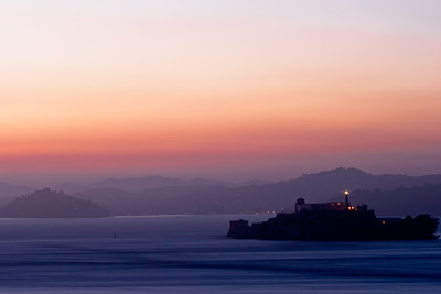 Sunset over Alcatraz
