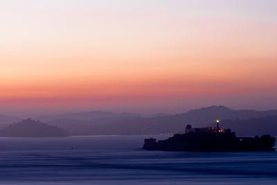 Sunset over Alcatraz