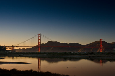 Golden Gate Bridge at Sunset from Crissy Field