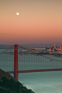 Moonrise over the Golden Gate