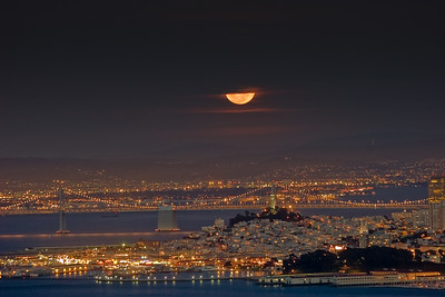 Moonrise over The City