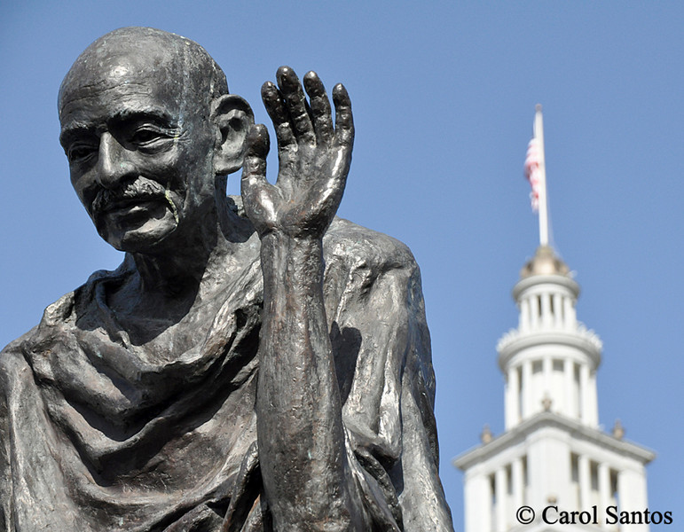 Ghandi and Ferry Building