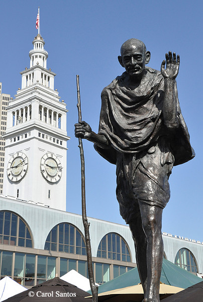 Ghandi and the Ferry Building
