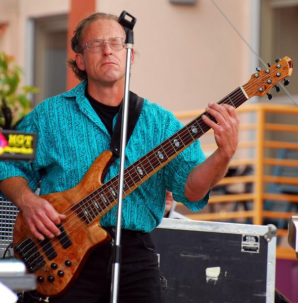 Bassist Gordon Rehm holding down the bottom.