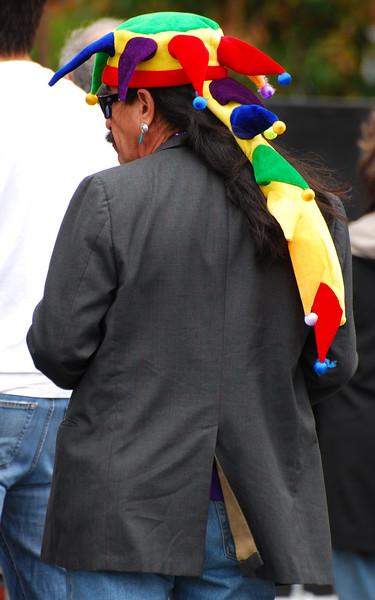 "This guy sure looks like Carlos Santana.  He was watching the band ""La Ventana""."