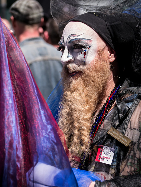 """This is """"Sister Lilith of the Valley"""" (of the Sisters of Perpetual Indulgence). Shot at the Dore Alley Fair, 7/29/12."""