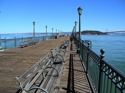 We took a walk out this pier.  Oakland Bay Bridge in the background