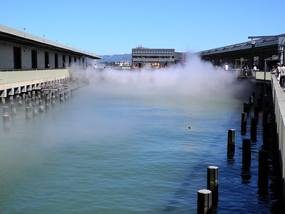 A fog machine at the Exploratorium