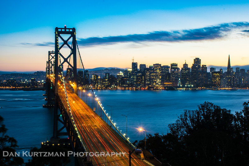 The Bay Bridge at Twilight
