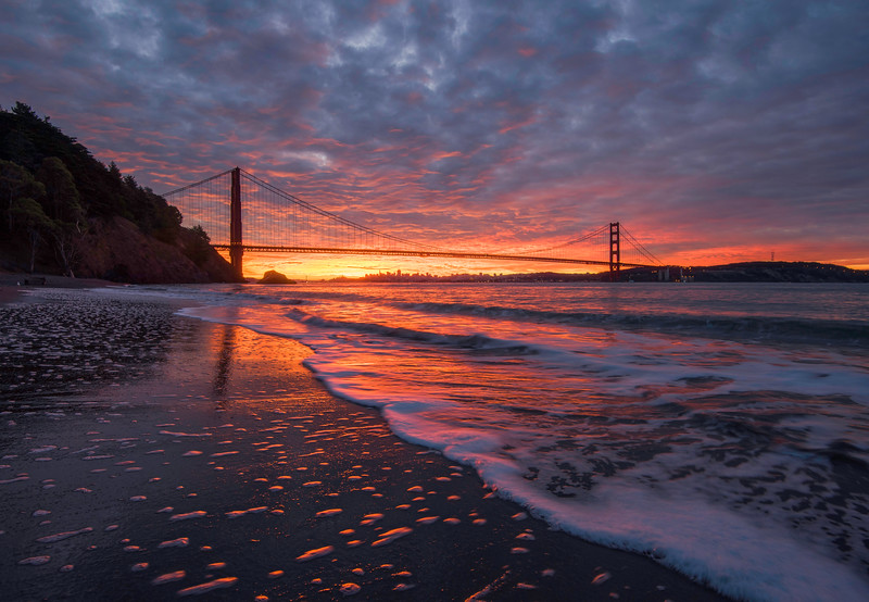 Molten Sunrise- Kirby Cove, Golden Gate National Recreation Area, CA