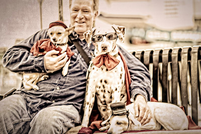 me and the dogs at Fisherman's Wharf in San Framcisco  this photograph makes me laugh for so many reasons