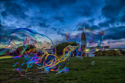 Walking through Dolores Park, San Francisco, I ran into a man blowing the biggest bubbles I have ever seen.
