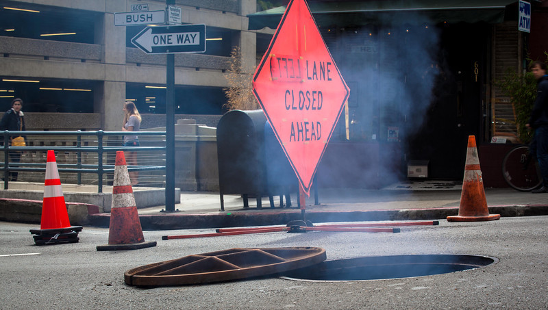 "Manhole explosion in San Francisco <br /> <br />  <a href=""http://sfist.com/2013/04/05/manhole_explodes_on_bush.php"">http://sfist.com/2013/04/05/manhole_explodes_on_bush.php</a>"