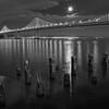 SF Bay Bridge & Moon 9096