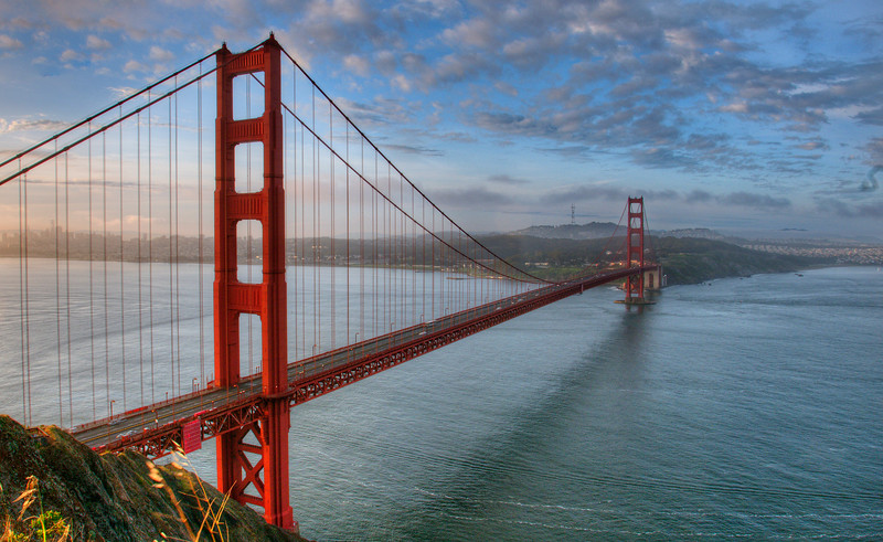 Golden Gate Bridge, San Francisco,  CA . Photograph taken just after dawn. Image copyright Nigel Keene