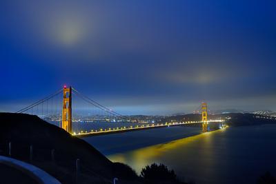 San Francisco Golden Gate Bridge shot at 2am in the morning.