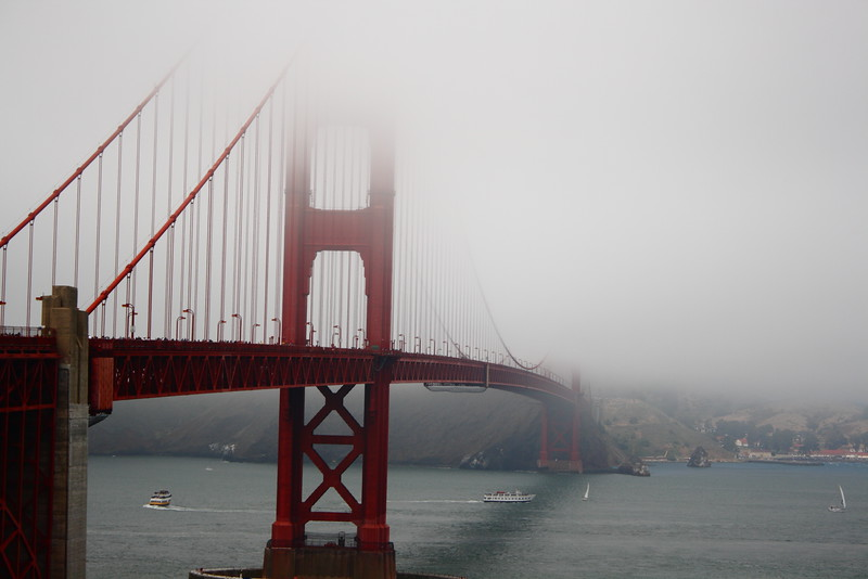 Bridge through the fog