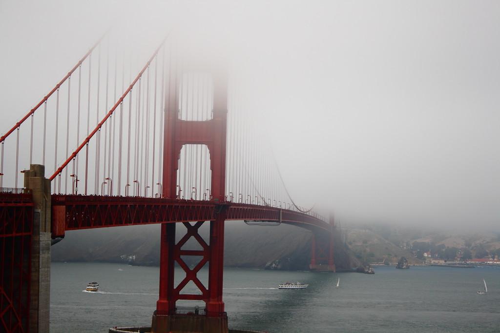 Bridge through the fog