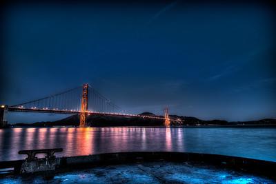 Golden Gate Bridge from Torpedo Wharf