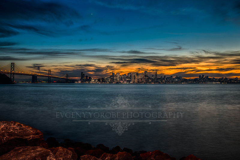 San Francisco Skyline Just After Sunset