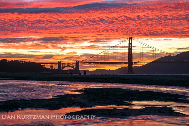 Blazing Sunset Over the Golden Gate Bridge
