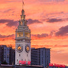 San Francisco Ferry Building Sunset