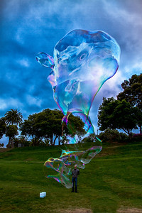 Bubble Mike in SF Park