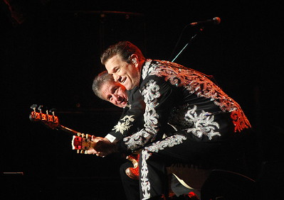 Chris Isaak performing at San Francisco Super Bowl City