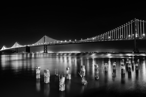 LED Lights on the Bay Bridge