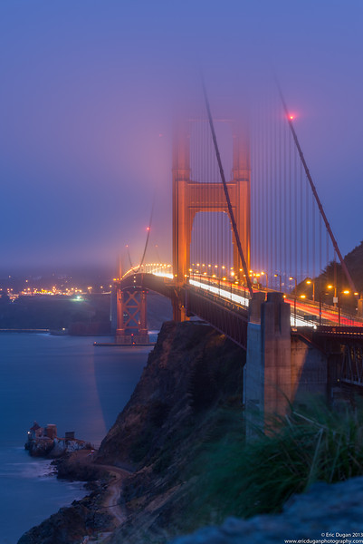 Gold Fog Gate Bridge
