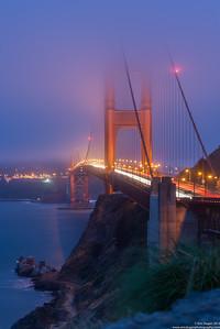 Gold Fog Gate Bridge