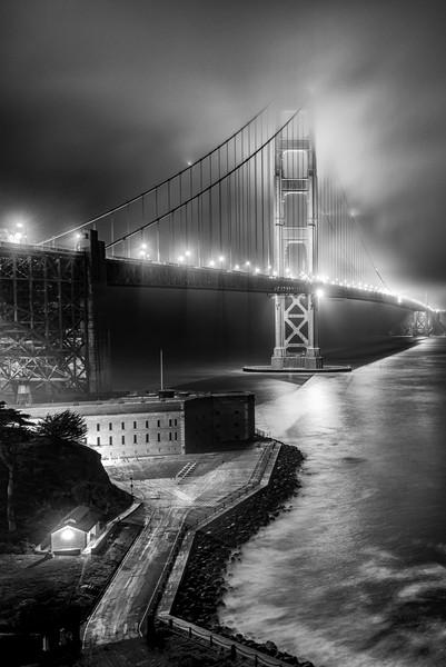 Evening Fog over Golden Gate