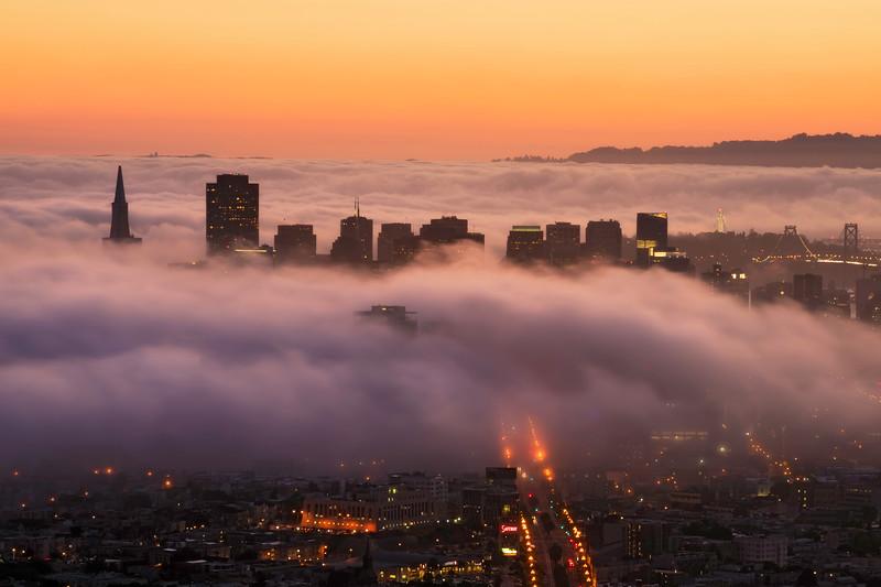 Twin Peaks Foggy Morning