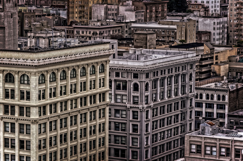 buildings and rooftops, San Francisco, CA