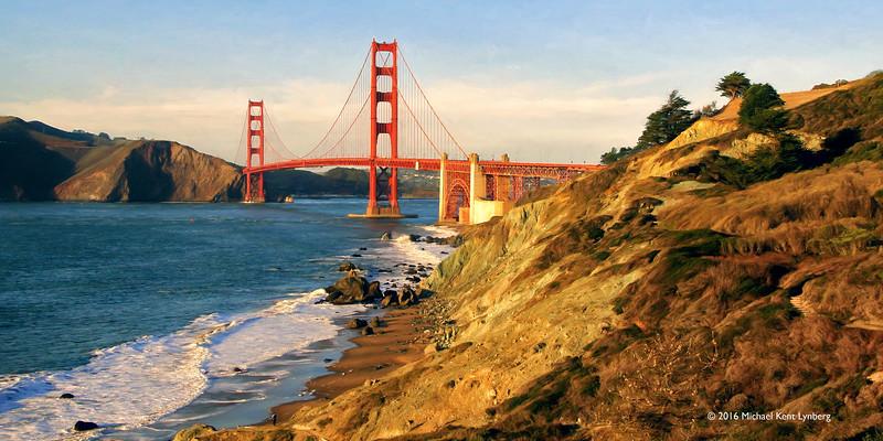Golden Gate Trails above Marshall Beach