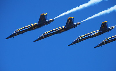 Navy's Blue Angels in San Francisco, Ca