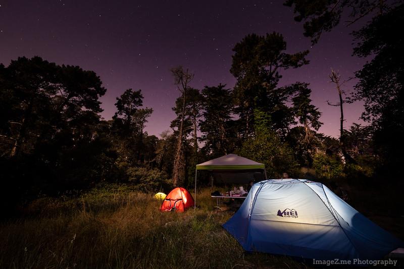 Camping at Santa Cruz State Beach