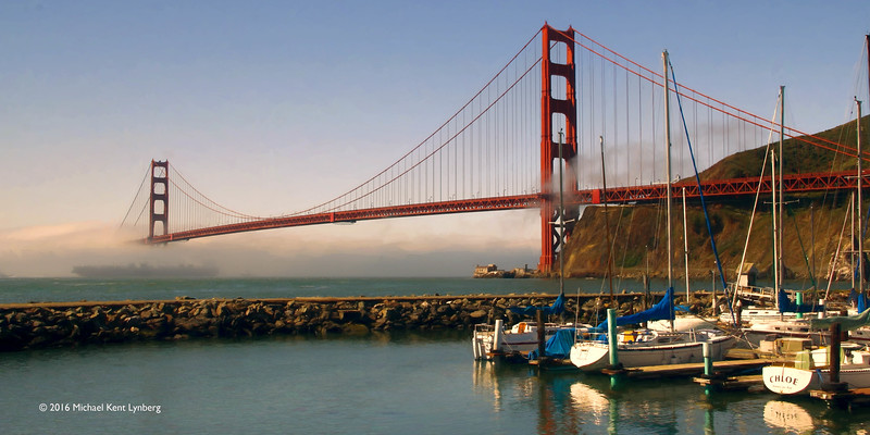 Golden Gate from Sausalito Yacht Club