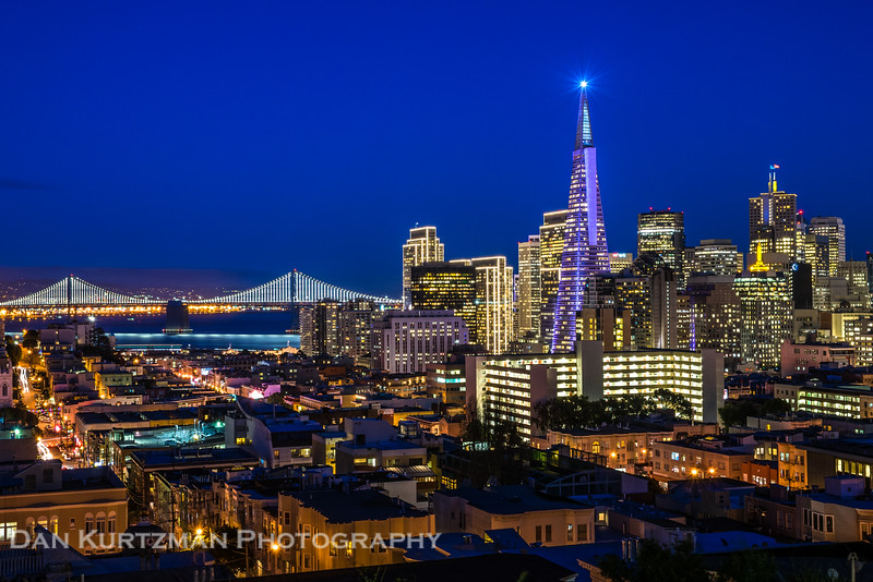 Super Bowl Lights in San Francisco