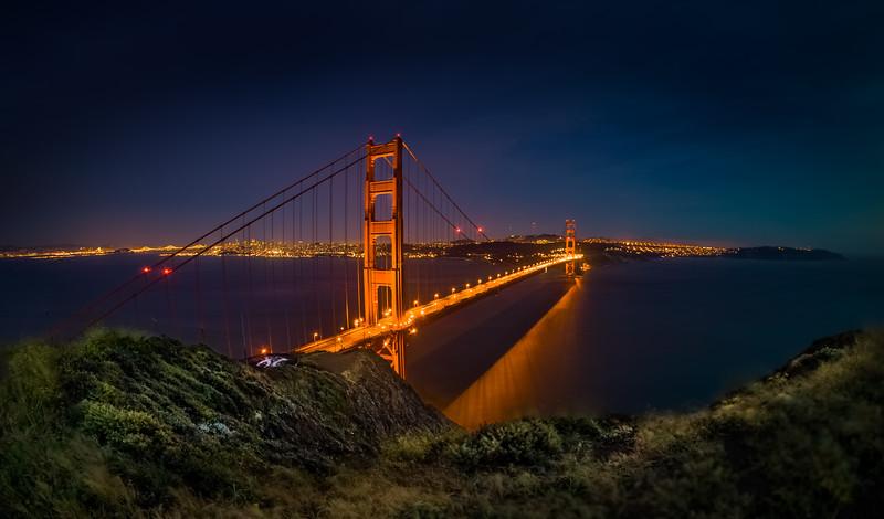 Blue Hour Golden Gate Bridge