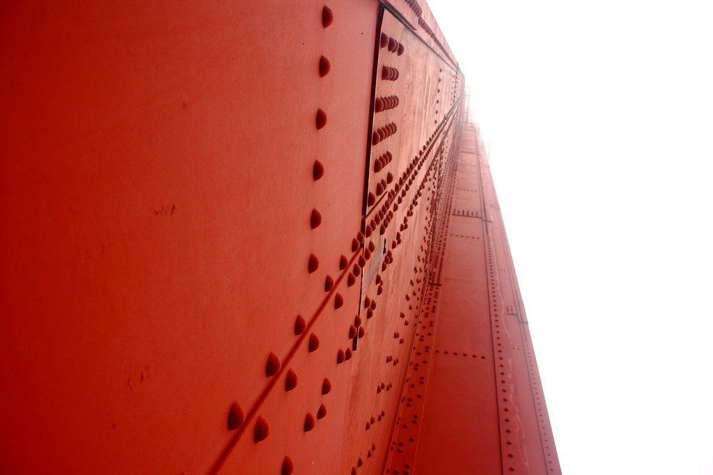 Looking up: Golden Gate Bridge