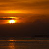 Sunrise over the San Francisco Bay.