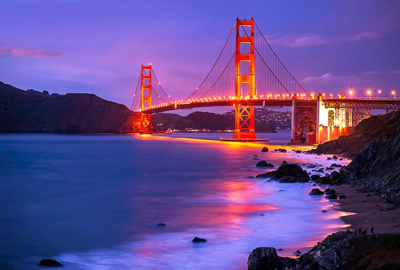 Golden Gate Bridge, Evening